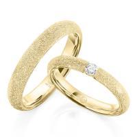 Rubin Trauringe 1610-3 Gelbgold diamantiert Brillant