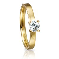 Solitaire Ring 41/82136 Brillant 0,40 ct Gelbgold
