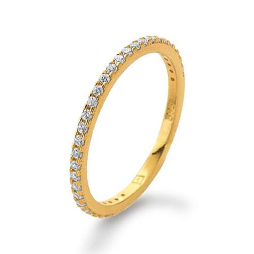 Memoire Ring Gelbgold 585 Zirkonia Palido K11284G