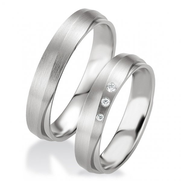 Breuning Trauringe / Partnerringe 48/08079 & 48/08080 aus Silber 925