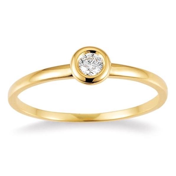 Palido Ring Gelbgold 585 Brillant K10487W