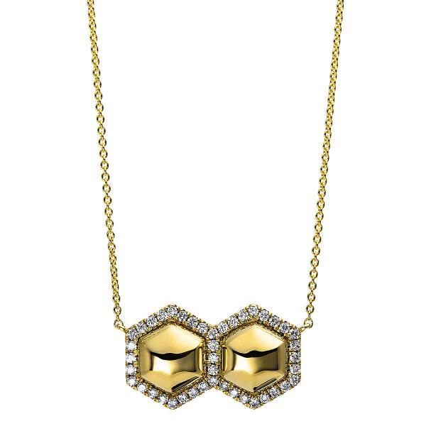 DiamondGroup Diamantcollier Collier 14 kt Gelbgold - 4E117G4-1