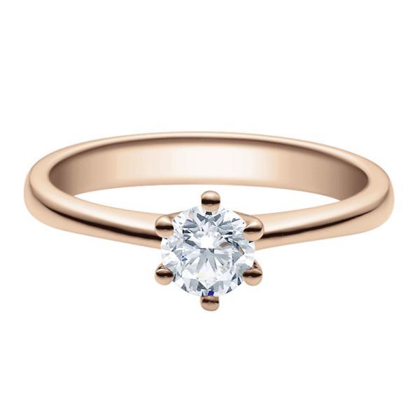Rubin Verlobungsring 18001 Rotgold Solitär Ring 0.500 ct.