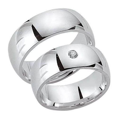 Schwarz Trauringe / Partnerringe Silber 925 Zirkonia SW925-050 Sterlingsilber poliert