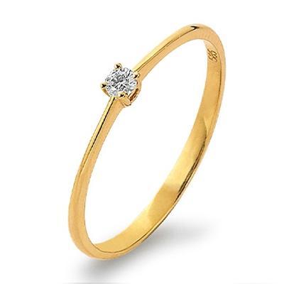 Palido First Love Ring Gelbgold 585 Brillant Solitär K11019G
