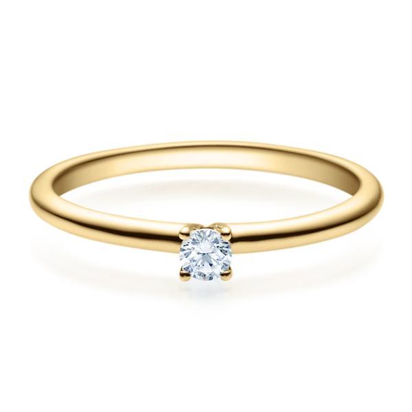 Rubin Verlobungsring 18018 Gelbgold Solitär Ring 0.100 ct.