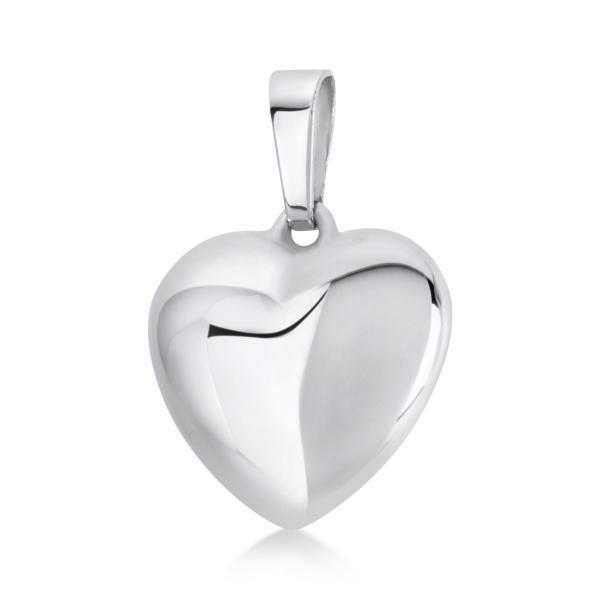 Anhänger 14 kt Weißgold Herz, poliert - 3A014W4-2