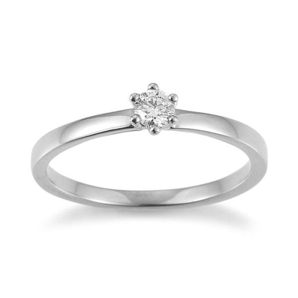 Palido Solitär Ring Weißgold 585 F1308W