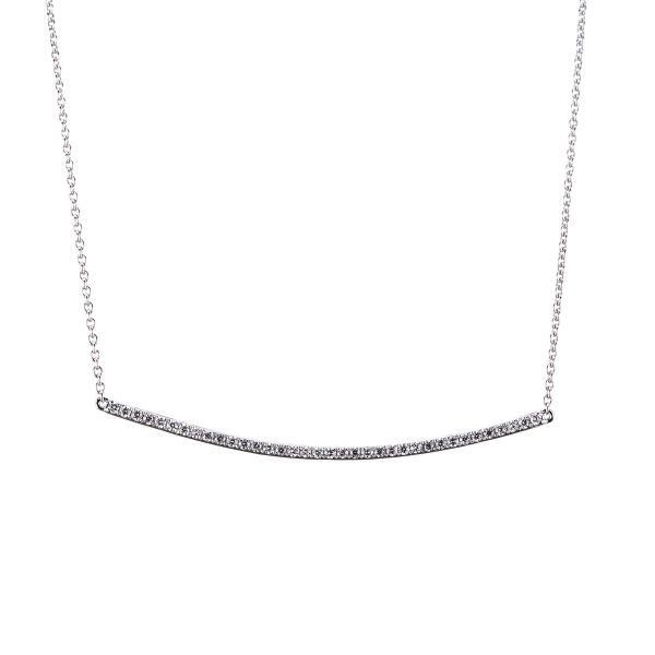 DiamondGroup Diamantcollier Collier 14 kt Weißgold - 4A004W4-1