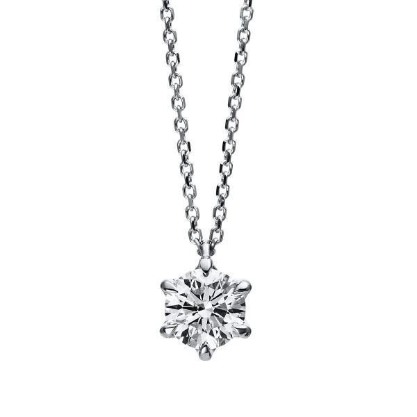 DiamondGroup Diamantcollier Collier 6er-Krappe 18 kt Weißgold, 42 cm, GIA7338193848 - 4D047W8-4