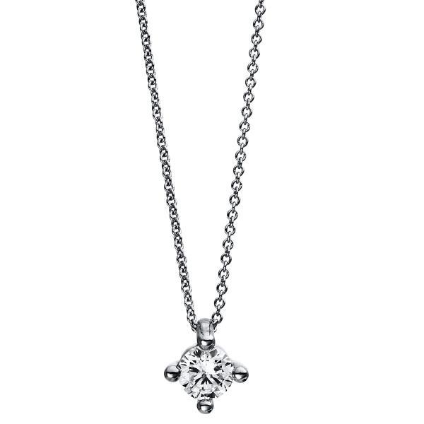 DiamondGroup Diamantcollier Collier 4er-Krappe 18 kt Weißgold - 4D245W8-2