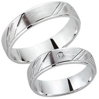 Schwarz Trauringe / Partnerringe Silber 925 Zirkonia SW925-089
