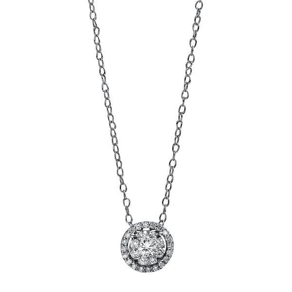 DiamondGroup Diamantcollier Collier 14 kt Weißgold - 4D938W4-1