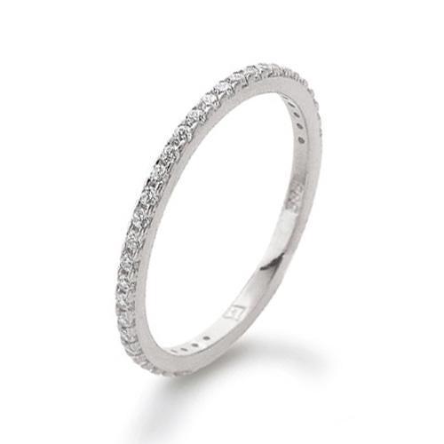 Memoire Ring Weißgold 585 Zirkonia Palido K11284W