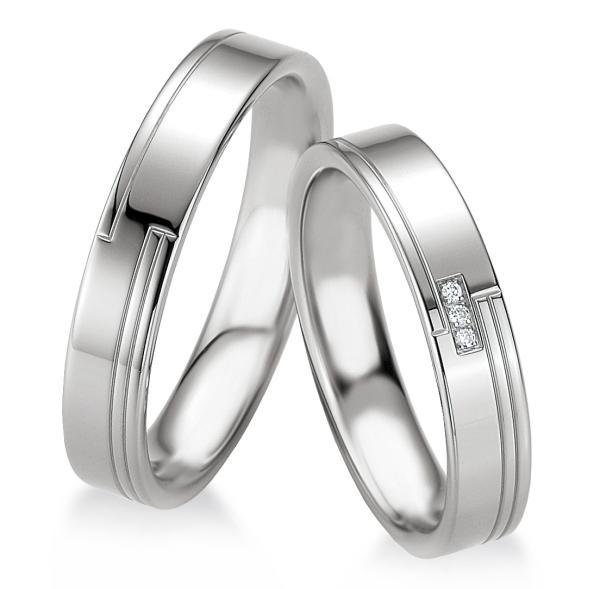 Breuning Trauringe Partnerringe 48/08067 & 48/08068 aus Silber 925