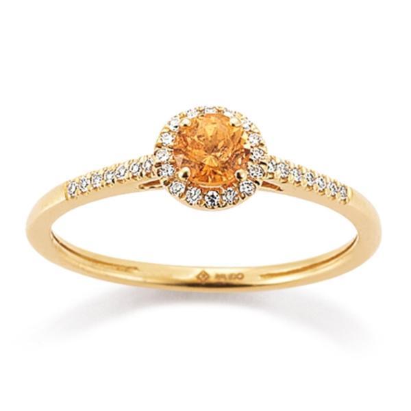 Ring Rotgold 585 Spessartin Brillant Palido K11608R