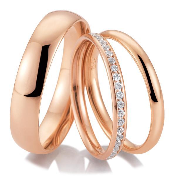 Breuning Trauringe Triset mit Memoire Ring 48/04715