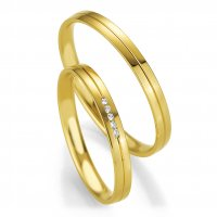 Trauringe Gelbgold Basic Slim Breuning 48/04327 & 48/04328