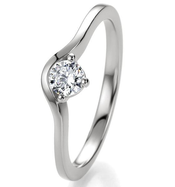 Breuning Bridal Antragsring Silber 925 Zirkonia 41/05300