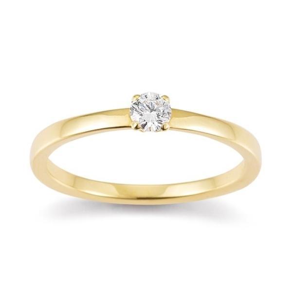 Solitär Ring Gelbgold 585 Brillant Palido F1338G