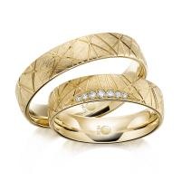 Rubin Trauringe 1607 Gelbgold Gold