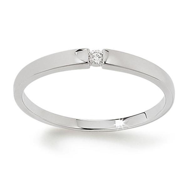 First Love Solitär Ring Weißgold 585 Palido K10483W