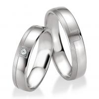 Breuning Trauringe Silber 925 Partnerringe 48/08089 & 48/08090