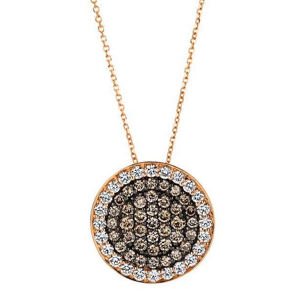 DiamondGroup Diamantcollier Collier 18 kt Rotgold, teils schwarz rhodiniert - 4A415R8-5