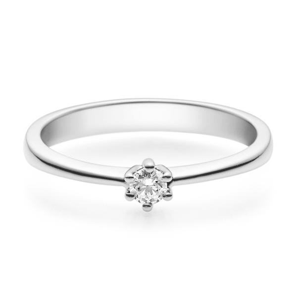 Rubin Verlobungsring 18001 Silber 925 Solitär Ring 0.100 ct.