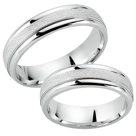 Schwarz Trauringe / Partnerringe 925-010D & 925-010H aus Silber 925