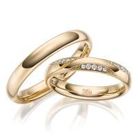 Rubin Trauringe 1629-1 Gelbgold Gold Brillant