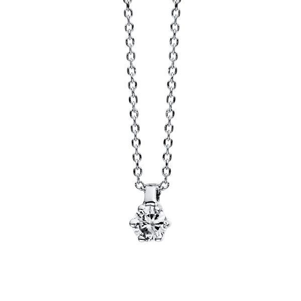 DiamondGroup Diamantcollier Collier 6er-Krappe 18 kt Weißgold - 4D277W8-1