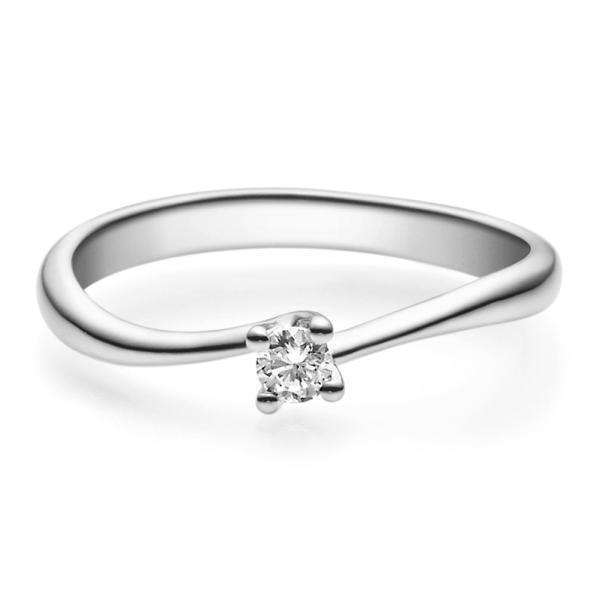 Rubin Verlobungsring 18011 Platin 950 Solitär Ring 0.100 ct.