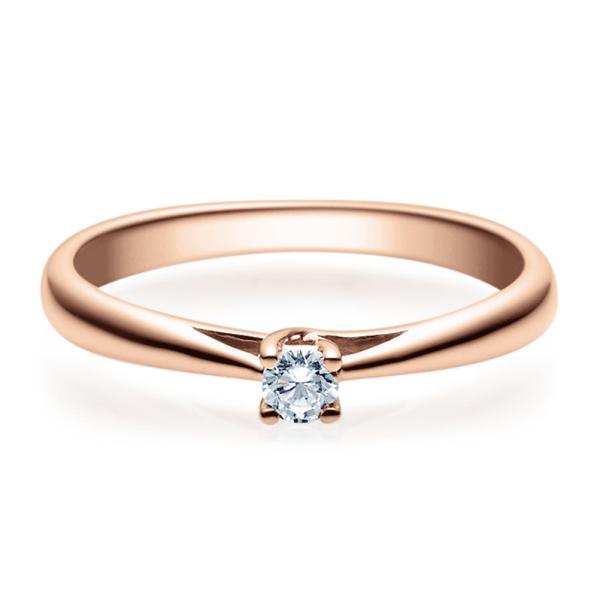 Rubin Verlobungsring 18002 Rotgold Solitär Ring 0.100 ct.