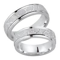 Schwarz Trauringe / Partnerringe Silber 925 SW925-033