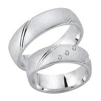 Schwarz Trauringe Partnerringe Silber 925 Zirkonia SW925-091