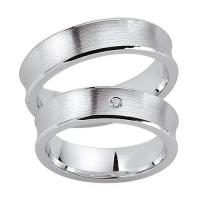 Schwarz Trauringe / Partnerringe Silber 925 Zirkonia SW925-034