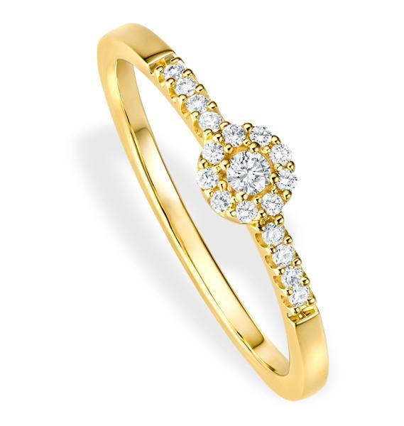 bella luce Verlobungsring Piccolina Gelbgold 0,100 ct w/si