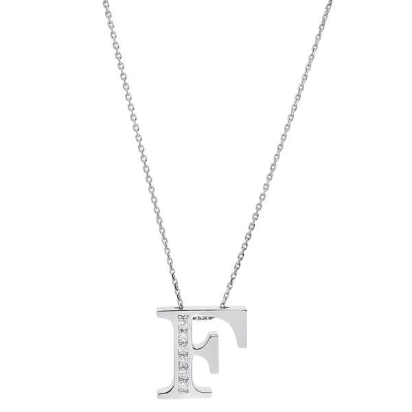 DiamondGroup Diamantcollier Collier 14 kt Weißgold F - 4A433W4-1