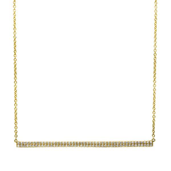 DiamondGroup Diamantcollier Collier 14 kt Gelbgold - 4B034G4-1
