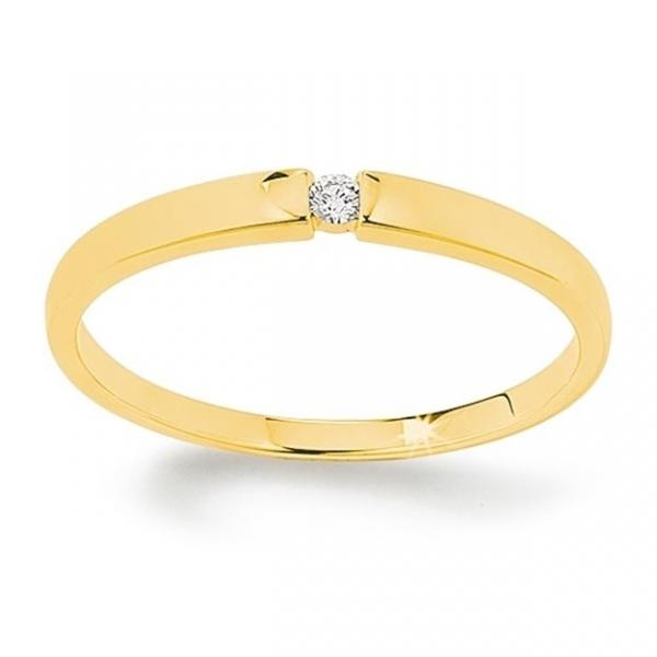 First Love Solitär Ring Gelbgold 585 Palido K10483G
