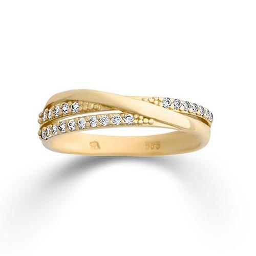 Ring Gelbgold 585 Zirkonia Palido K11713G