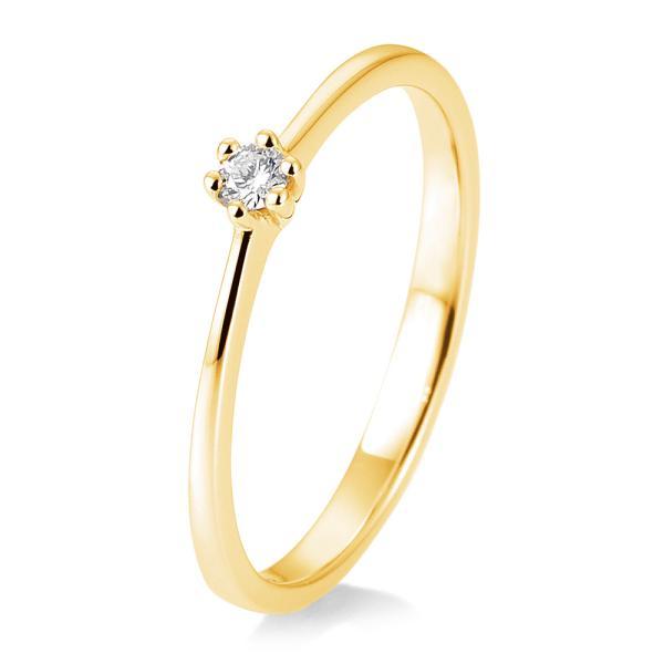 Breuning Solitärring Gelbgold 41/85770 - Diamantring