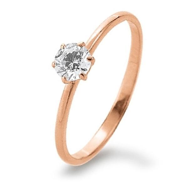 Ring Rotgold 585 Zirkonia Palido K11245G