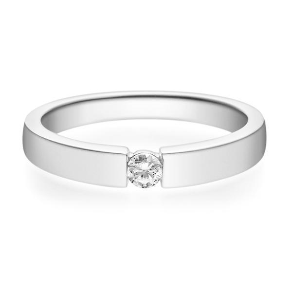 Rubin Verlobungsring 18012 Weißgold Solitär Ring