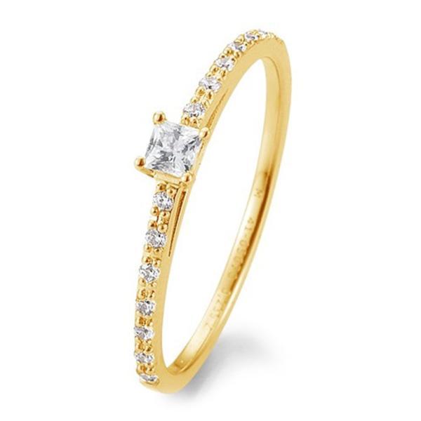 Breuning Verlobungsring Antragsring Gelbgold Princess Brillant 41/05670