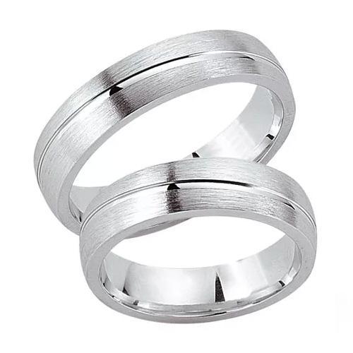 Schwarz Trauringe / Partnerringe Silber 925 SW925-020