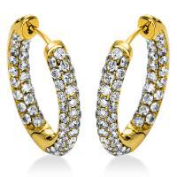 DiamondGroup Creolen aus 18 kt Gelbgold 2A309G8-4