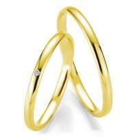 Trauringe Gelbgold Basic Slim Breuning 48/04303 & 48/04304