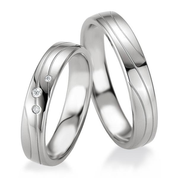 Breuning Trauringe Partnerringe 48/08071 & 48/08072 aus Silber 925
